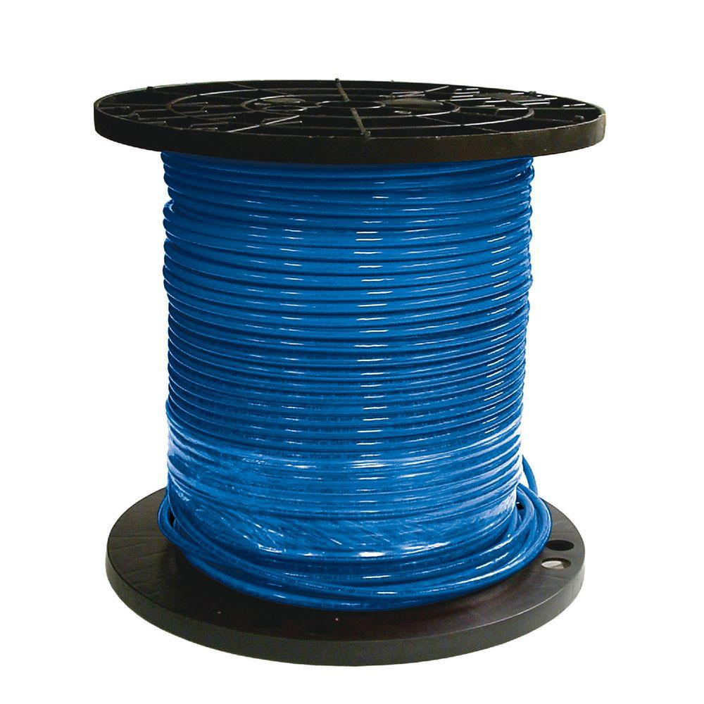 blue wire on a spool
